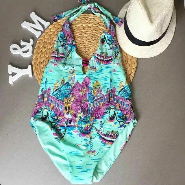 Dernier Zara Magnifique Multicolore Imprimé Maillot De Bain Taille M Neuf
