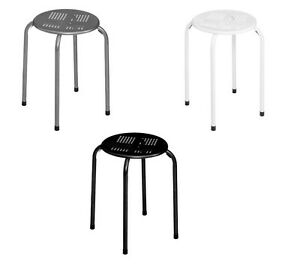Tremendous Details About 2 X Stacking Stool Metal Grey Black White Home Bar Kitchen Office Hotel Picnic Uwap Interior Chair Design Uwaporg