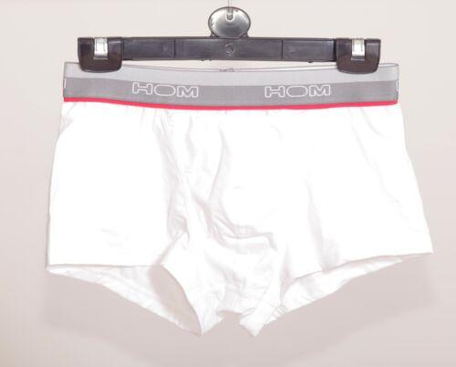 Hom Boxer caleçons de bain court 400617 Trunk Homme Court Pantalon confort Blanc S