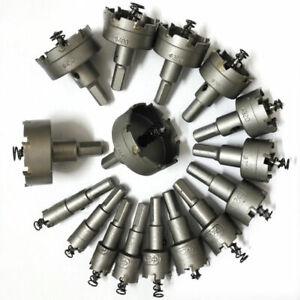 15-50mm-Ensemble-Carbure-Pointe-TCT-Foret-Scie-Cloche-pour-Inox-Acier-Metal