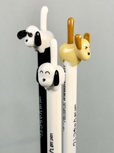 Dog Tail Gel Ink Pens Rollerball Kids Party Gifts-set of 3 assorted colors