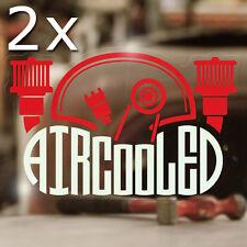 2x Stück Aircooled Engine Sticker Autocollante Aufkleber Cox Käfer Typ 1 2 4 rot