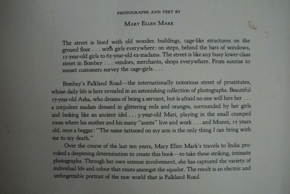 falkland road - prostitutes of bombay, by mary ellen mark,