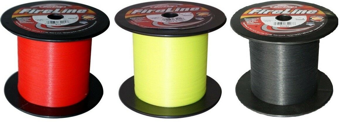 Berkley Fireline Fused Braid 1800m Bulk Spools Spools Spools rot, Flame Grün or Smoke e428a8