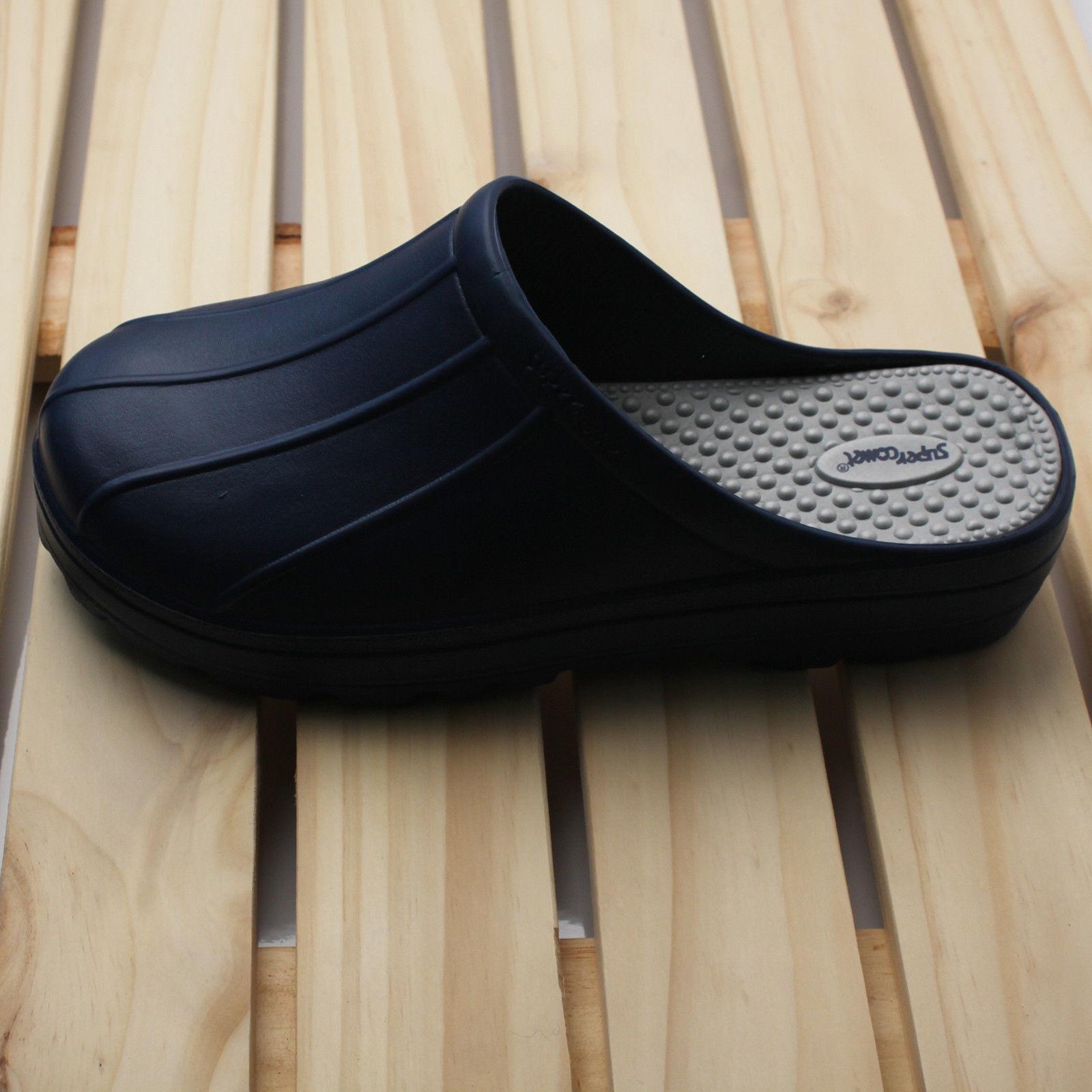 New Safety Mens Chef Shoes Slippers Sandal Clogsr Safety New Kitchen Non-Slip Comfort Vee 51af2c