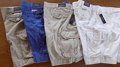 NWT Polo Ralph Lauren Hudson TAN, Stone BEIGE Men's Cargo Shorts BIG&TALL