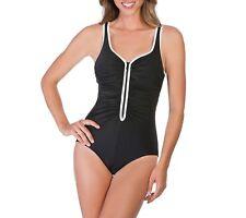 3ba80c3a3f7fb item 5 NWT Womens Black Reebok Zig Zag V Neck One Piece Tummy Control  Swimsuit Size 14 -NWT Womens Black Reebok Zig Zag V Neck One Piece Tummy  Control ...