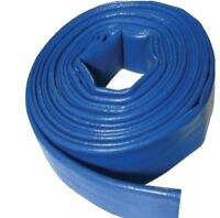 10M x 50mm (2inch) BLUE  LAY FLAT HOSE WATER PUMP SUBMERSIBLE PUMP HOSE