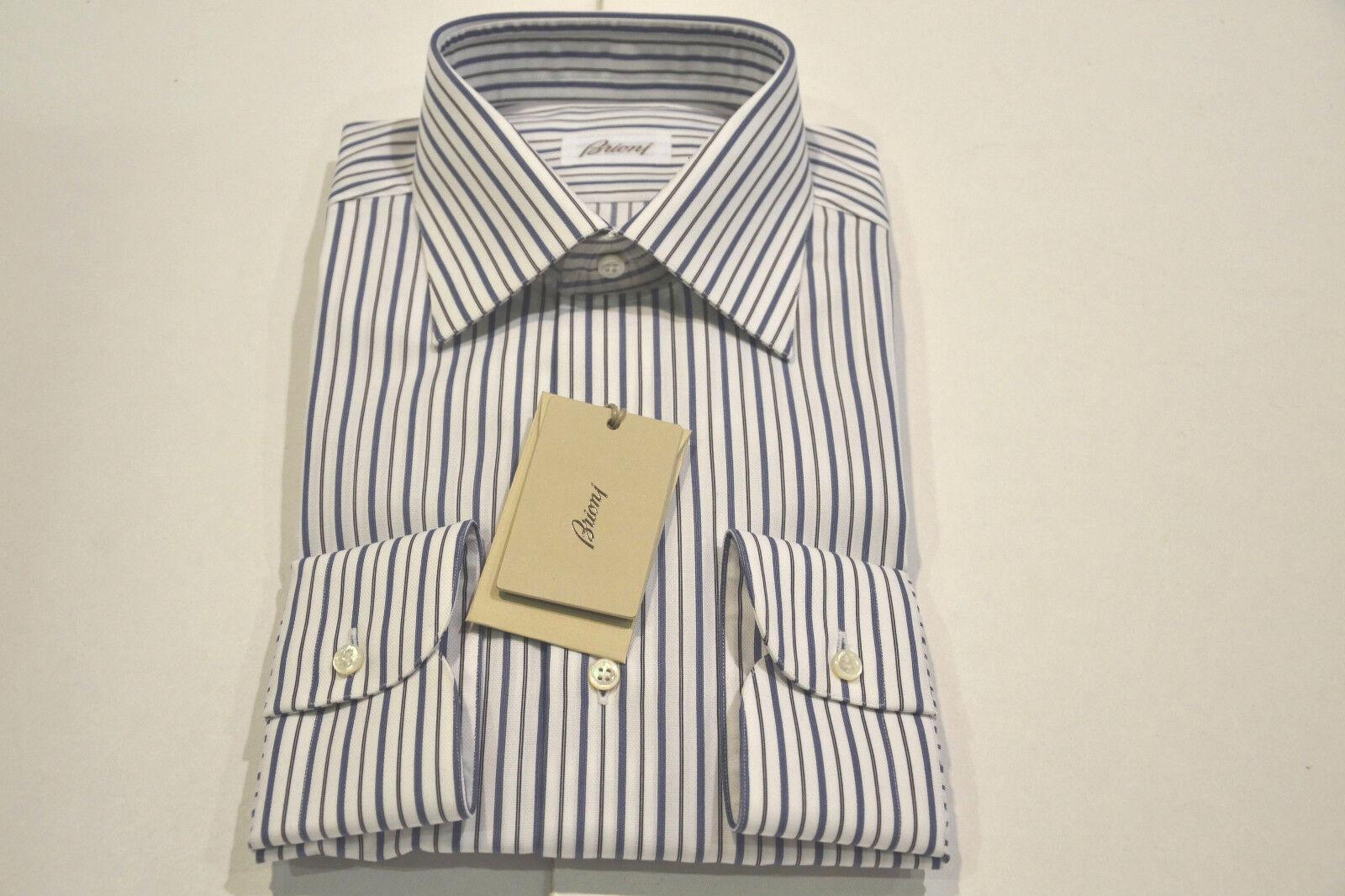 NEW 650,00   BRIONI Dress hemd 100% baumwolle  Größe  16 US  41 EU (Isnello)
