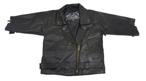 T Fringed Tassled Leather Toddler Baby Biker Brando Custom Motorcycle Jacket