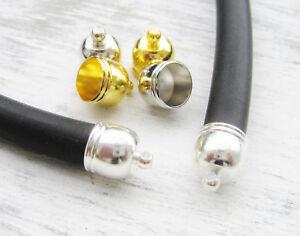 Endkappen Metallkappen Endteile für Bänder 3mm silber//nickel//gold 10//50 Stück