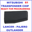 ID61-MITSUBISHI-TRANSPONDER-CHIP-IMMOBILISER-LANCER-OUTLANDER-PAJERO-REMOTE-KEY thumbnail 1