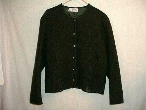 1950s Black Boiled Wool Chapeau