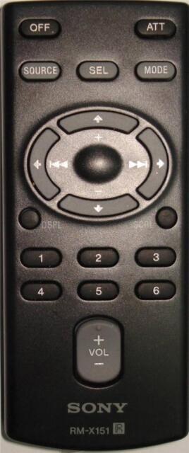 SONY Remote Control  RM-X151-  CAR AUDIO SYSTEM