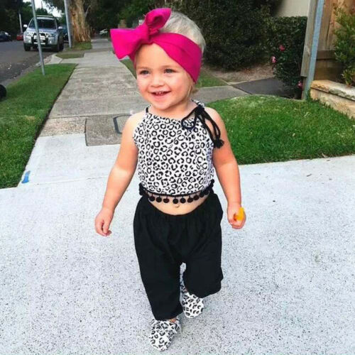 Toddler Kids Baby Girls Casual Outfits Clothes Tops Blouse+Harem Pants Suit KW