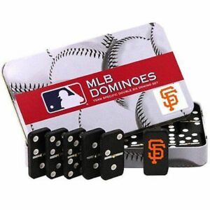 MLB Licensed Team Domino Set in Metal Gift Tin San Francisco Giants NEW