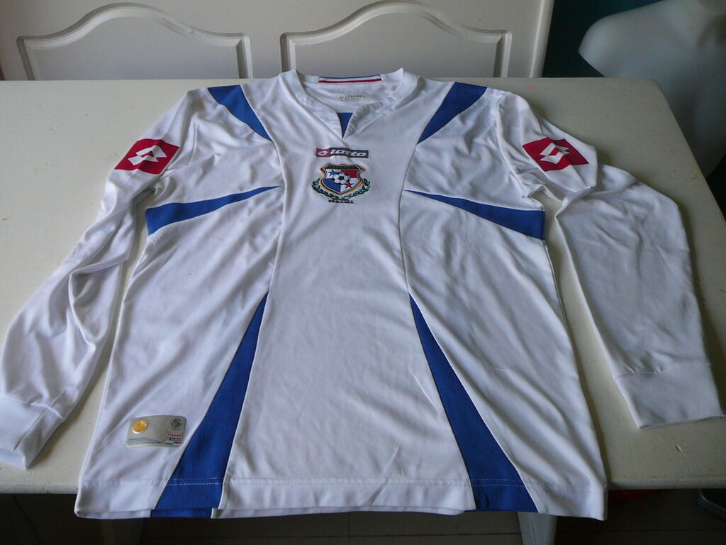Football jersey Panama Lotto L white camiseta,jersey Shirt collector