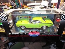 Highway 61 1:18 Diecast 1970 Barracuda 440 50228 Sublime Green DCP SUPERCAR