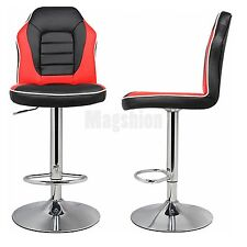 Modern Racing Seat Bar Stools Chair Adjustable Swivel Mixed Color Extra Comfort