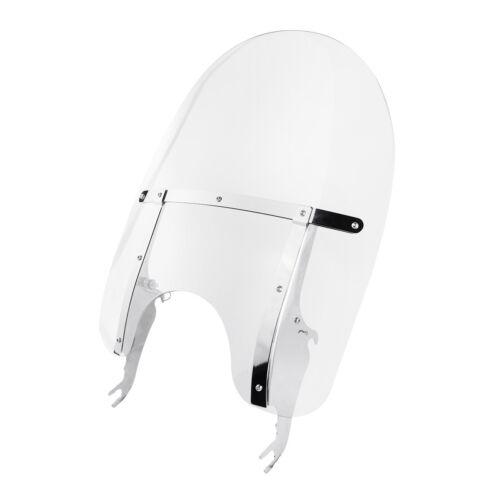 Detachable PC Clear Windscreen Windshield Fit For Harley Softail Slim FLS 12-17