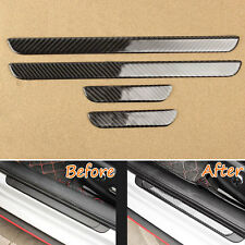 4pcs Carbon Fiber Outside Door Sill Plate Guard Frame Trim For Audi A3 2013-2017