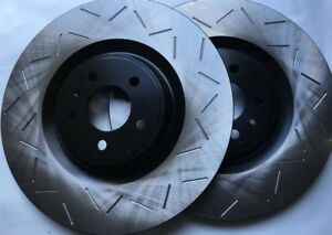 Fits-13-14-Shelby-GT500-5-8L-Slotted-Brake-Rotors-Premium-Grade-Front-Pair-380MM
