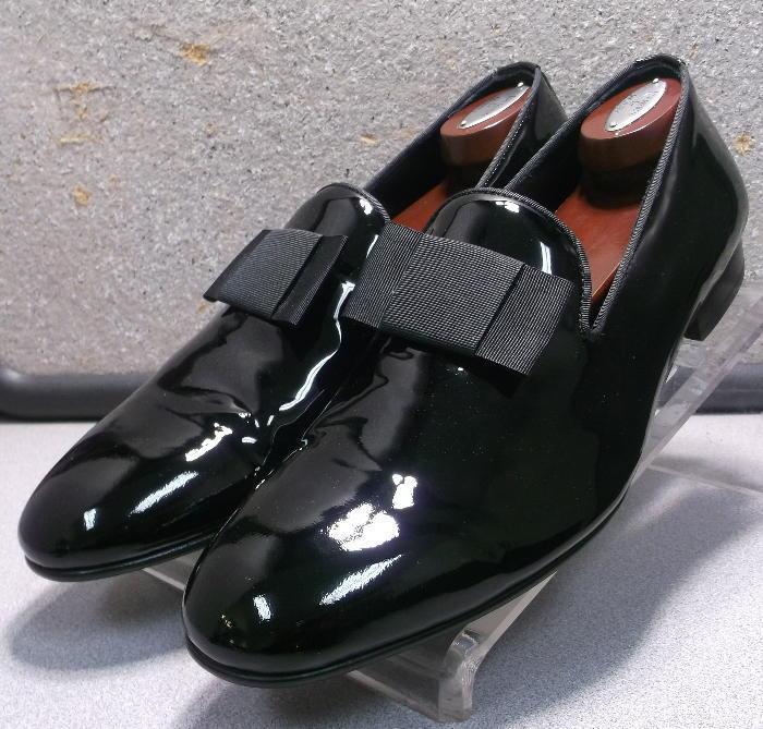 241551 SPi60 Chaussures Hommes Taille 10.5 m Noir Cuir à Enfiler Johnston & Murphy