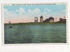 Long Point Lighthouse Cape Cod Mass. Vintage Postcard USA 402a ^