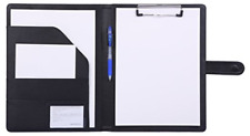 Padfolio Clipboard Folder Portfolio Mymazn Faux Leather Storage Clipboard With