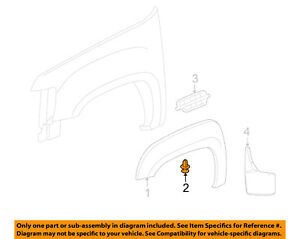 Genuine GM Flare Retainer 11589294