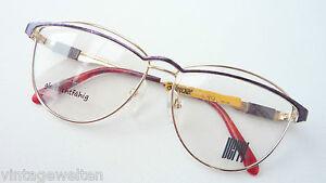 Vintagebrille-Frauengestell-oversized-Metall-Fassung-70s-Schmuckbrille-Groesse-L