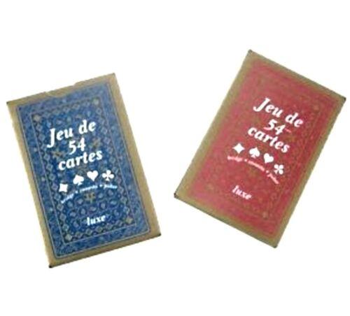 LOT 10 JEUX DE 54 CARTES DE LUXE *POKER BELOTE