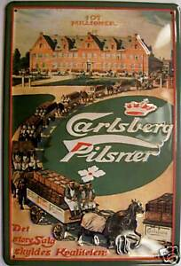 Carlsberg-Pilsner-Blechschild-Schild-3D-gepraegt-gewoelbt-Tin-Sign-20-x-30-cm
