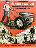 1950s Sears / David Bradley Garden Tractors & Accessories Catalog - Reprint