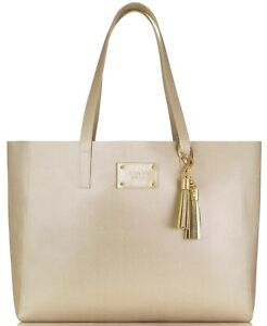 655f89a0a52c Image is loading Michael-Kors-Metallic-Gold-Shimmer-Tote-Travel-Shopper-
