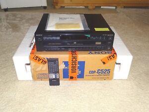 Sony-CDP-C525-5-fach-CD-Wechsler-OVP-amp-NEU-2-Jahre-Garantie