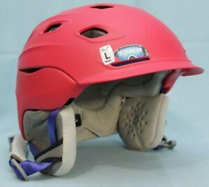Smith-Optics-Vantage-Snow-Helmet-Matte-Red-Pink-Large-59-63cm-New-Ski-Sports