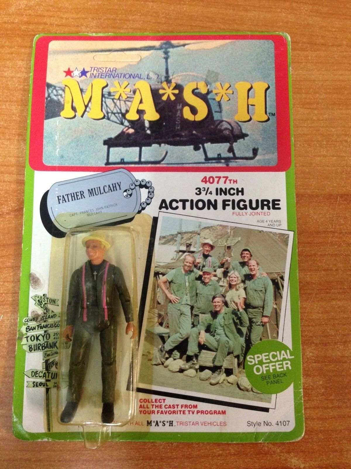 Rare Vintage 1982 MASH M.A.S.H. Action Figure - Father Mulcahy