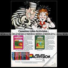 KABOOM ! & TENNIS Activision ATARI VCS 2600 Video Game 1984 : Pub / Ad #A1322