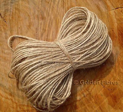 50m Mts Hank Natural Brown Jute Twine String Ribbon Shabby Style Rustic Crafts