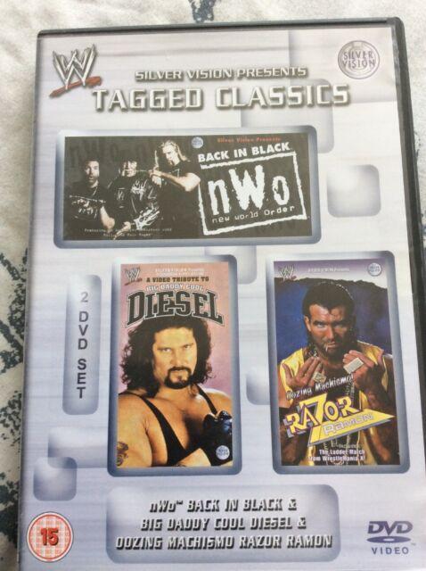 WWE nWo Back In Black/Diesel & Razor Ramon 2 Disc DVD WWF Tagged Classics