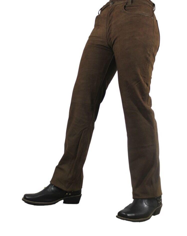Jeans-lederhose CLASSICI büffel-nubuk-echtleder   effetto Vitellino     w26-w40 d60710