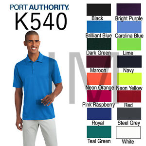 Port-Authority-K540-Mens-Dri-Fit-SIlk-touch-Polo-XS-4XL-Golf-Shirt