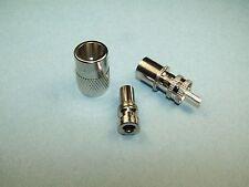 2 AMPHENOL PL-259 WITH AMPHENOL UG-176 REDUCERS - RG8X MINI 8 RG59 NEW