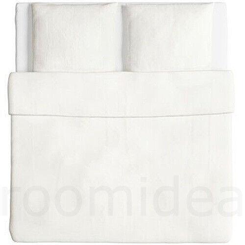 IKEA ÄNGSLILJA 3 tlg Bettwäsche Set 240x220 Garnitur Bettbezug weiß NEU