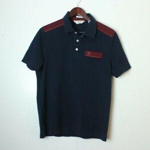 VTG-Munsingwear-Men-039-s-Large-Classic-Fit-Rare-Wine-Blue-Penguin-Cotton-Polo-Shirt