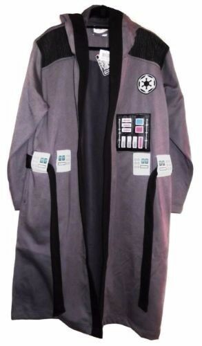 Star Wars VII ROGUE ONE Imperial Forces Gray Fleece BATHROBE With HOOD