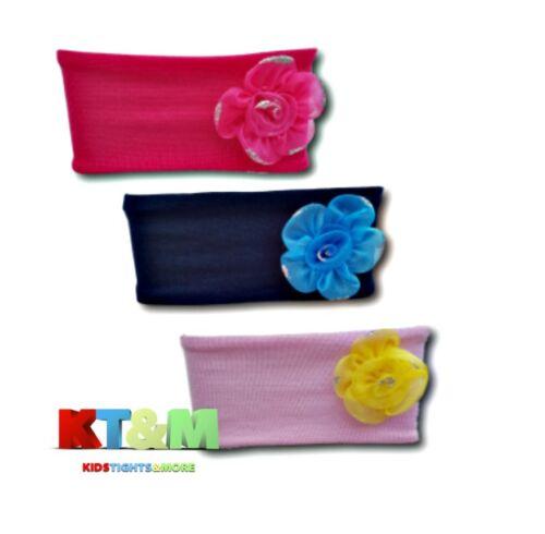 New Baby Toddler Girl Kids Glittery Flower Turban Headband Hair Band One Size