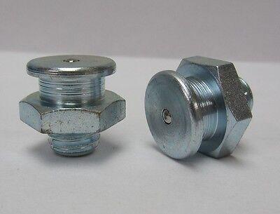 M10 x 1mm Straight Metric Grease Zerk Nipple Fitting 5 pcs