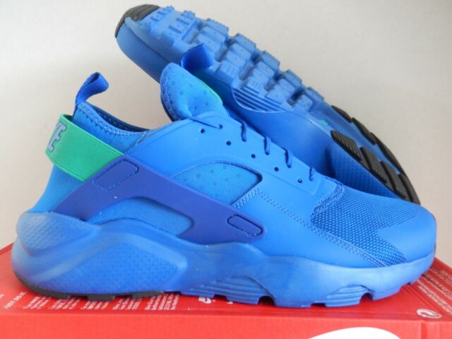 new arrive fast delivery running shoes NIKE AIR HUARACHE RUN ULTRA GAME ROYAL BLUE-GREEN SZ 13 SUPERMAN!  [819685-413]